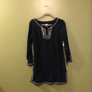 Blue Old Navy Cover up- XS NWT